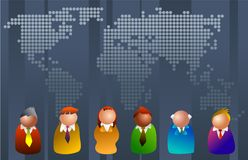 Mundo do negócio Foto de Stock Royalty Free