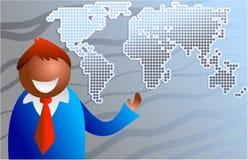 Mundo do negócio ilustração royalty free