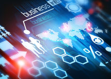 Mundo do negócio conectado ilustração stock
