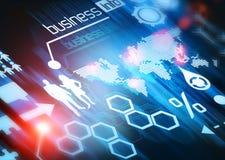 Mundo do negócio conectado Fotos de Stock