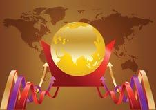 Mundo do ouro Fotografia de Stock