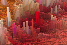 Mundo do pixel ilustração do vetor