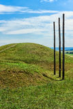 Mundo dos Celts em Glauberg, Hesse, Alemanha imagens de stock