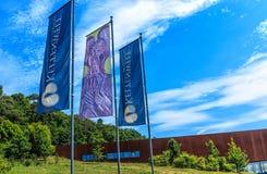 Mundo dos Celts - parque arqueológico e museu em Glauberg, Hesse, Alemanha foto de stock royalty free