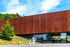 Mundo dos Celts - parque arqueológico e museu em Glauberg, Hesse, Alemanha foto de stock