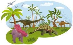 Mundo dos dinossauros ilustração do vetor