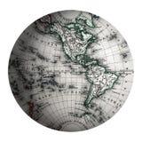 Mundo dos hemisférios ocidentais Imagens de Stock Royalty Free