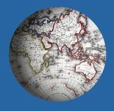 Mundo dos hemisférios ocidentais Fotos de Stock Royalty Free