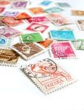 Mundo dos selos de porte postal Foto de Stock