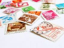 Mundo dos selos de porte postal Fotografia de Stock