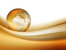 Mundo dourado Imagens de Stock