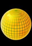 Mundo dourado ilustração royalty free