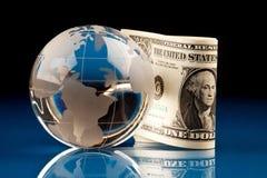 Mundo e dinheiro imagens de stock royalty free