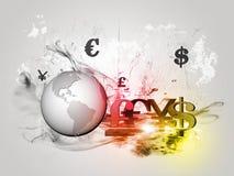 Mundo e dinheiro Foto de Stock Royalty Free