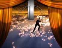 Mundo e homem invertidos Imagens de Stock Royalty Free