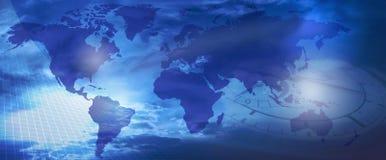 Mundo e tempo? Imagem de Stock Royalty Free