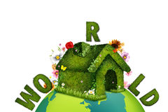 Mundo ecológico imagens de stock royalty free