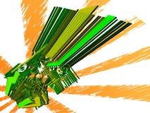Mundo electrónico - vector 3d