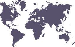 Mundo em branco Fotografia de Stock