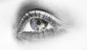 Mundo em meus olhos Imagem de Stock Royalty Free