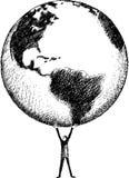Mundo em minhas mãos Imagem de Stock Royalty Free