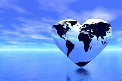 Mundo em que amor Fotografia de Stock Royalty Free