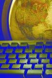 Mundo em suas pontas do dedo foto de stock royalty free