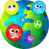 Mundo emocional Imagens de Stock Royalty Free