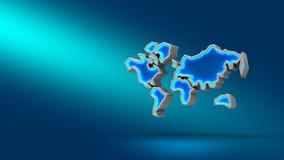 Mundo en fondo azul ilustración 3D Fije para las presentaciones del diseño Imagen de archivo