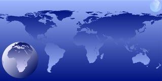 Mundo en gráfico del mundo foto de archivo libre de regalías
