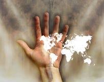 Mundo en la mano Stock de ilustración