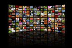 Mundo en la pantalla fotografía de archivo libre de regalías