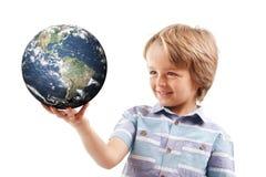 Mundo en sus manos Imagen de archivo libre de regalías