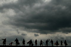 Mundo escuro da nuvem Foto de Stock Royalty Free