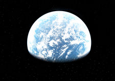 Mundo estrangeiro no espaço ilustração royalty free