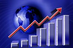 Mundo financeiro do gráfico Foto de Stock Royalty Free