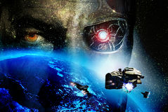Mundo futurista Imagem de Stock Royalty Free
