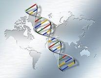 Mundo genético ilustração stock