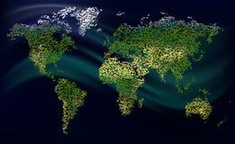 Mundo granulado Imagens de Stock