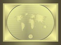 Mundo horizontal del globo del certificado Fotografía de archivo