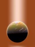Mundo iluminado, dourado Fotografia de Stock