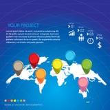 Mundo infographic Fotografia de Stock
