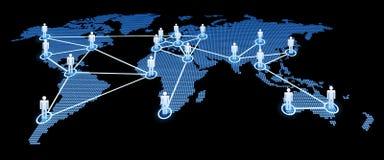 Mundo interconectado ilustración del vector