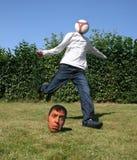 Mundo inverso del fútbol Imagen de archivo