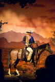 Mundo John Wayne Great Movie Ride de Disney foto de archivo