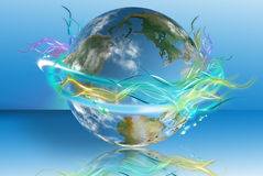 Mundo Luminescent ilustração stock