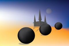 Mundo místico ilustración del vector