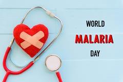 Mundo MALARIA día 25 de abril, atención sanitaria y concepto médico Fotografía de archivo