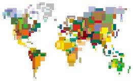 Mundo Many-colored Imagens de Stock