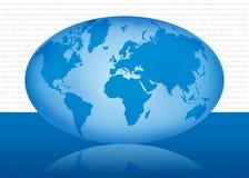 Mundo map1 ilustración del vector